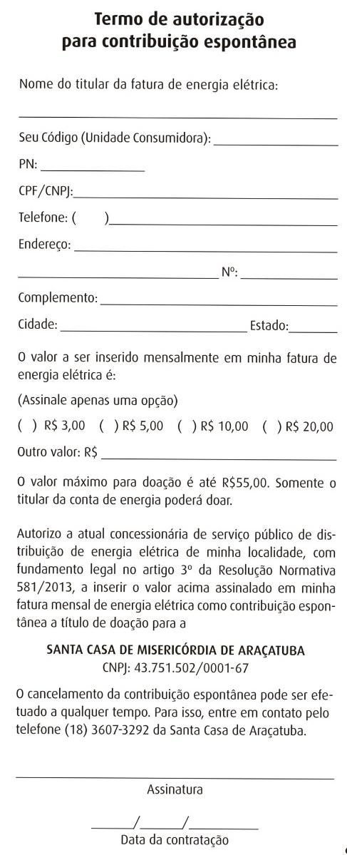 A4 formulário