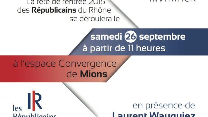 Fête de rentrée des Républicains du Rhône 2015