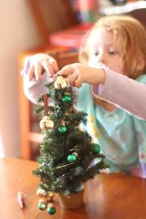 making her own little tree!