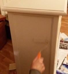Pintamos con pintura a la tiza gris hielo