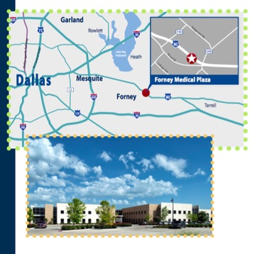 Map to Lake Ray Hubbard Pediatrics in Forney