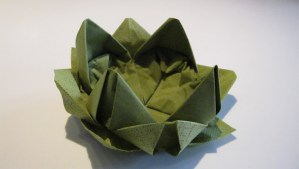 Lotusblomst servietter
