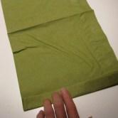 Fold servietter som en vifte - første trin