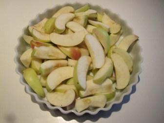 Ingredienser til æble crumble / smuldre æblekage