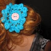hæklet blomst hårpynt B