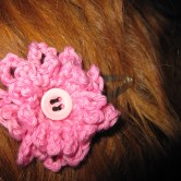 hæklet blomst hårpynt F