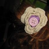 hæklet blomst hårpynt H