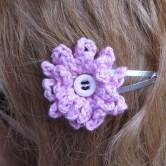 hæklet blomst hårpynt8