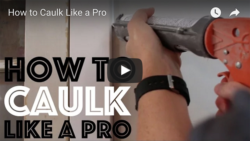 How to Caulk Like a Pro Video on YouTube