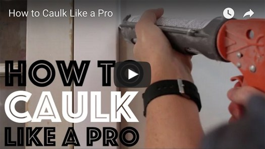 How to Caulk Like a Pro Video on YouTube