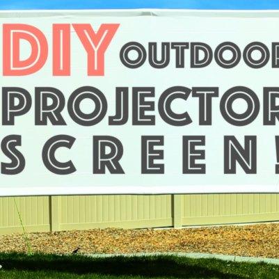 DIY Outdoor Projector Screen