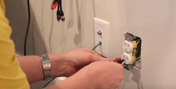 How to Add an Electrical Outlet for a Wall Mounted TV – DIY Home ...