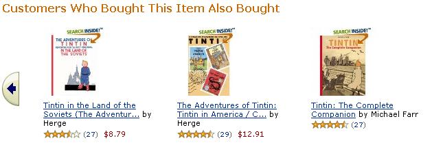 Amazon's familiar recommendation engine