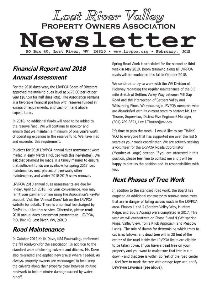 2018 LRVPOA Newsletter_Page_1