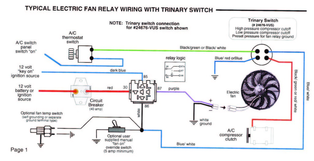 Spal Power Window Switch Wiring Diagram : Spal relay wiring diagram jeffdoedesign