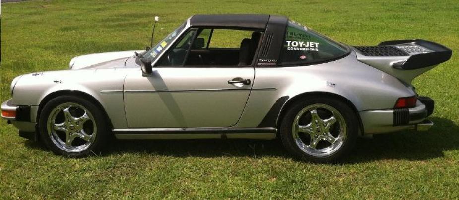 LS1tech.com Twin Turbo LS7 V8 Swap Porsche 930 911 Targa