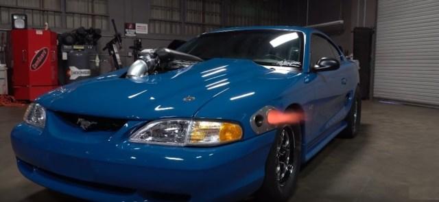 Weber Mustang Shoots Flames