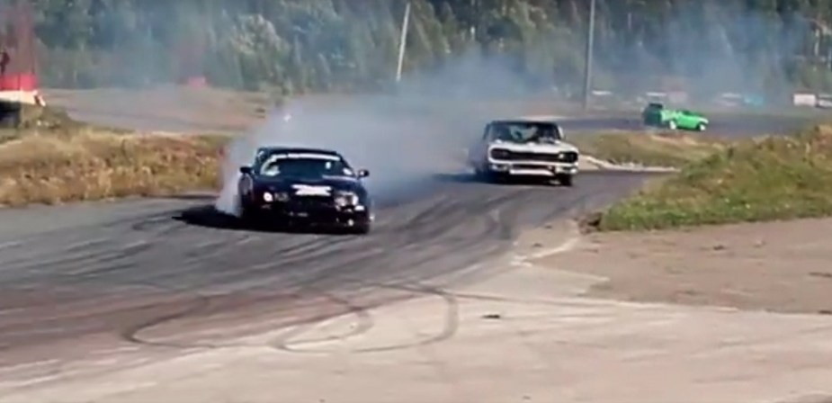1964 Chevy Impala Toyota Supra Drift Battle