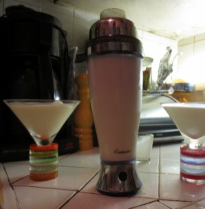 A battery operated shaker helps cut down on repetitive motion stress.