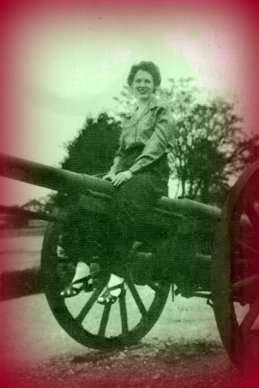 Daryl's Mother doing her part for the greatest generation. She could never understand why we loved this photo so much.