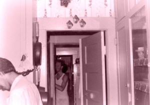 The early days of our open door policy. David, per usual, in various states of undress.
