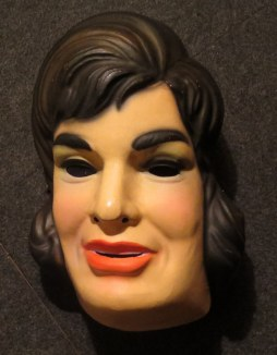 A vintage Halloween mask. Spooky, scary.