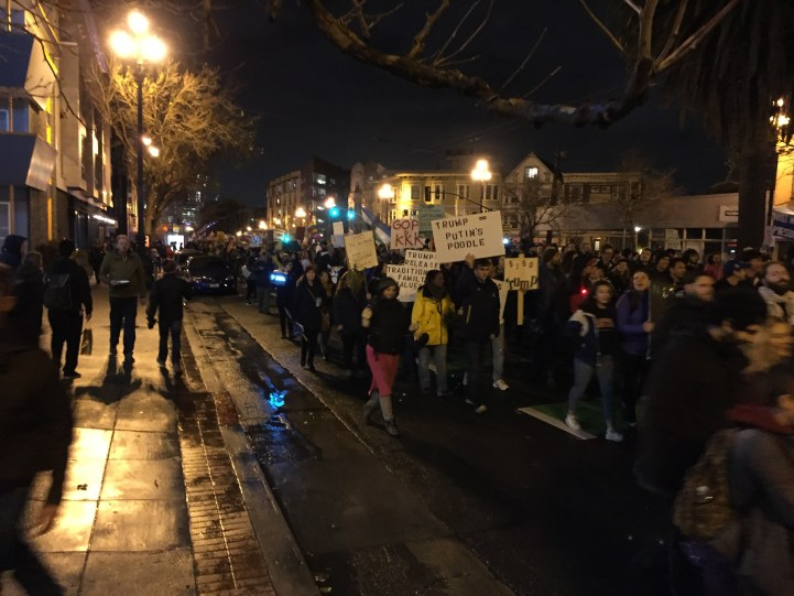 An impressive crowd but gone are the outside agitators who incited all the fun (or violence as some called it.)