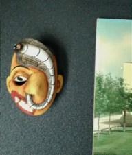 Sri Lankan mask, sort of R. Crumb.