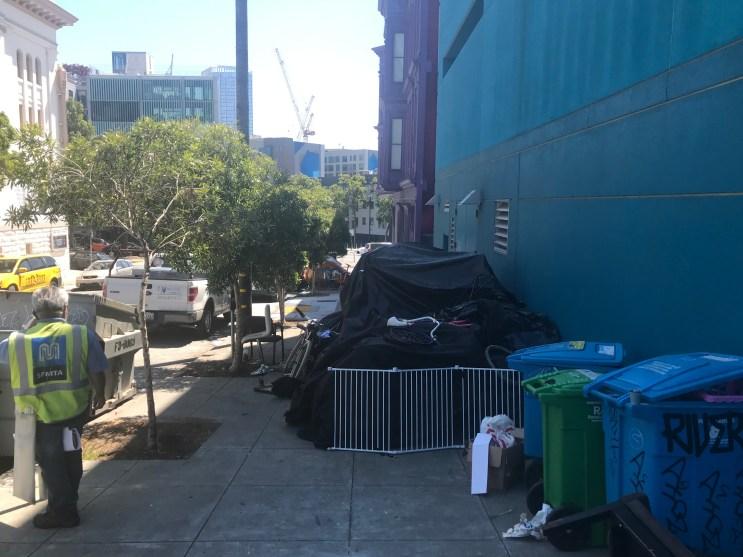 My neighborhood encampment