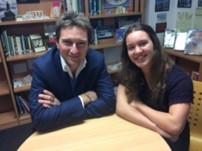 dr-michael-scott-and-katrina-kelly-in-aks-library