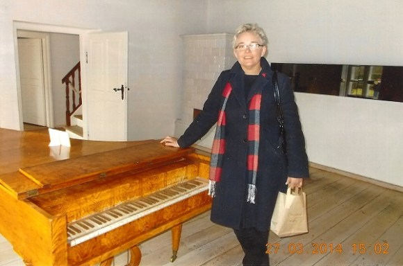 Małgorzata Głuchowska, pianist and piano teacher, in Zelazowa Wola, the birthplace of Frederic Chopin, 27 March 2014