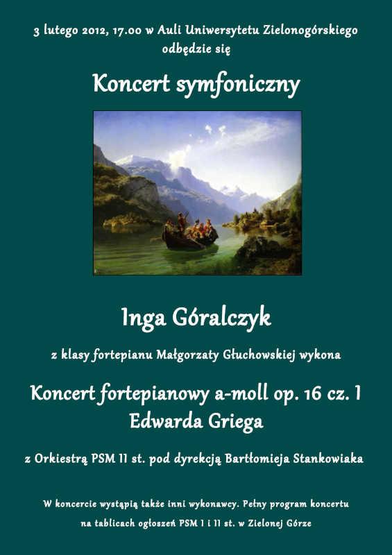 Edward Grieg Koncert fortepianowy a-moll Op. 16 część 1. Edward Grieg Piano Concerto in A minor Op. 16 part 1
