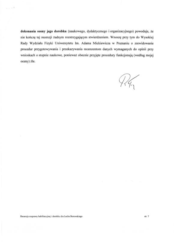 Ryszard Tadeusiewicz, recenzja habilitacji LSB, strona 7