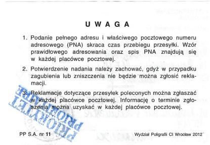 Małgorzata Głuchowska, list polecony. potwierdzenie nadania, Bogdan Zdrojewski, 5 października 2010, strona 2