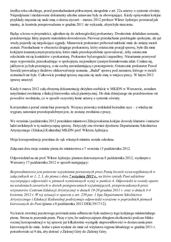 Małgorzata Głuchowska, list do Jarosława Kaczyńskiego 2 grudnia 2012, strona 3