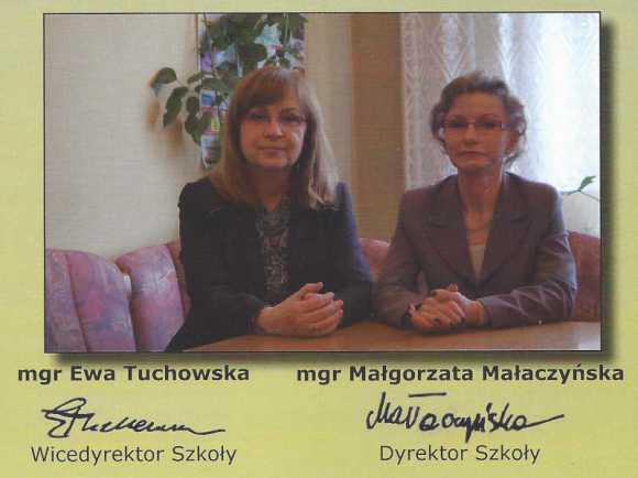 Małgorzata Małaczyńska (Szumska), dyrektor Państwowej Szkoły Muzycznej w Zielonej Górze i Ewa Tuchowska, zastępca dyrektora PSM w Zielonej Górze, 2012