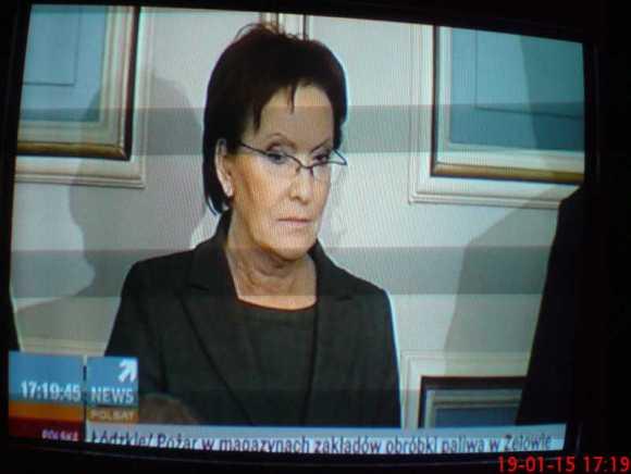 Ewa Kopacz premier Polski 29 stycznia 2015 tv