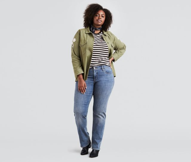 314 Shaping Straight Jeans Plus Size
