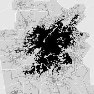 Atlanta, USA - density map