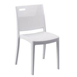 Chaise blanche Givry