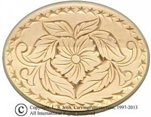 L S Irish Chip Carved Oval
