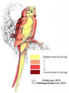 macaw levels pattern