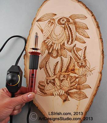 Basic Wood Burning And Pyrography Tools Tips And Free Pattern By L S Irish Lsirish Com