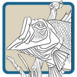 Fresh Water Fishing Mantel Line Art Patterns by Lora S Irish