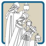 Three wisemen, holly family, baby Jesus patterns by Lora S Irish
