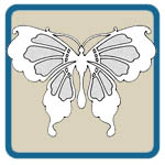 Fretwork, scroll saw, wind chime butterfly patterns by Lora S Irish