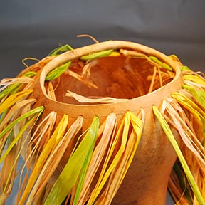 how to make a braided rim for gourd art