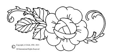 free wood flower pyrography pattern
