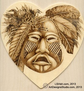 Pyrography Mask Project by Irish