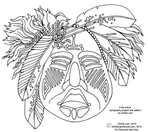 ceremonila mask pattern